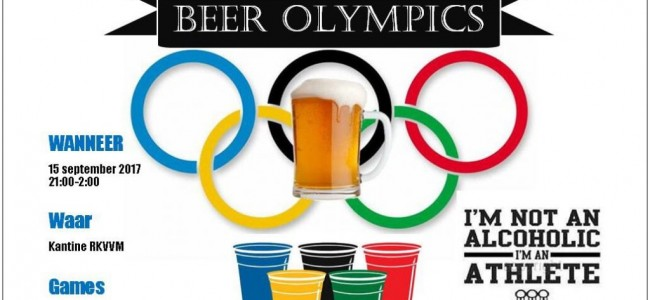 BEER OLYMPICS! 15 september in de kantine